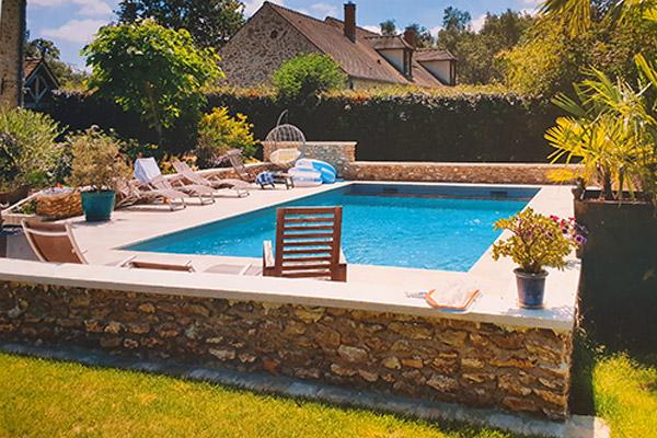 Aménagement extérieur piscine jardin Les Essarts-le-Roi